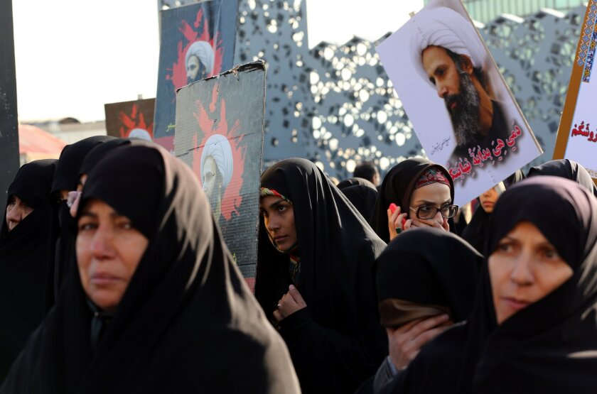 Protest against cleric's execution