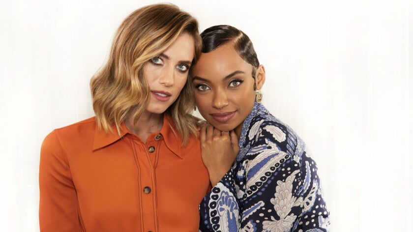 Allison Williams and Logan Browning