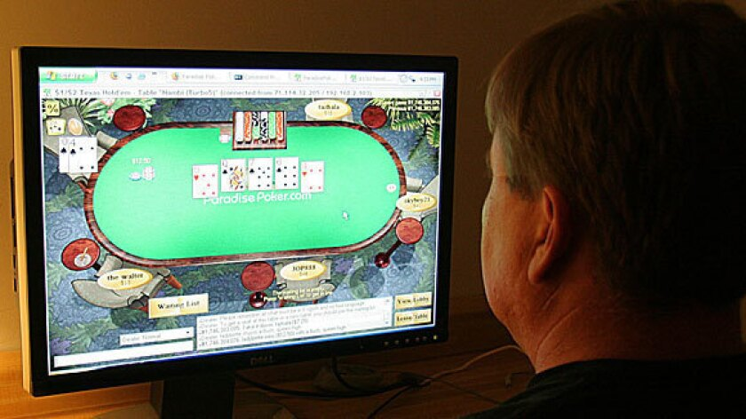 Some states are scrambling for a share of online gambling revenue.