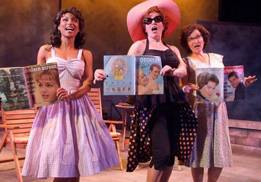 "CHEKHOVIAN: The world premiere musical of ""Gulls"" at the Theatre at Boston Court stars (from left to right) Sabrina Sloan, Rende Rae Norman and Eileen T'Kaye."