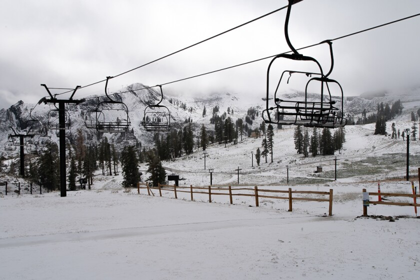 Snow in summer? Lake Tahoe area gets early blast of winter