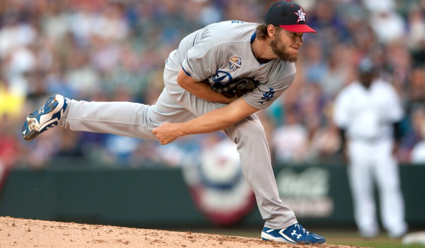 Dodgers ace Clayton Kershaw ran his scoreless innings streak to 36 with eight shutout frames against the Rockies on Friday night in Denver. Kershaw struck out eight, walked one and gave up two hits.