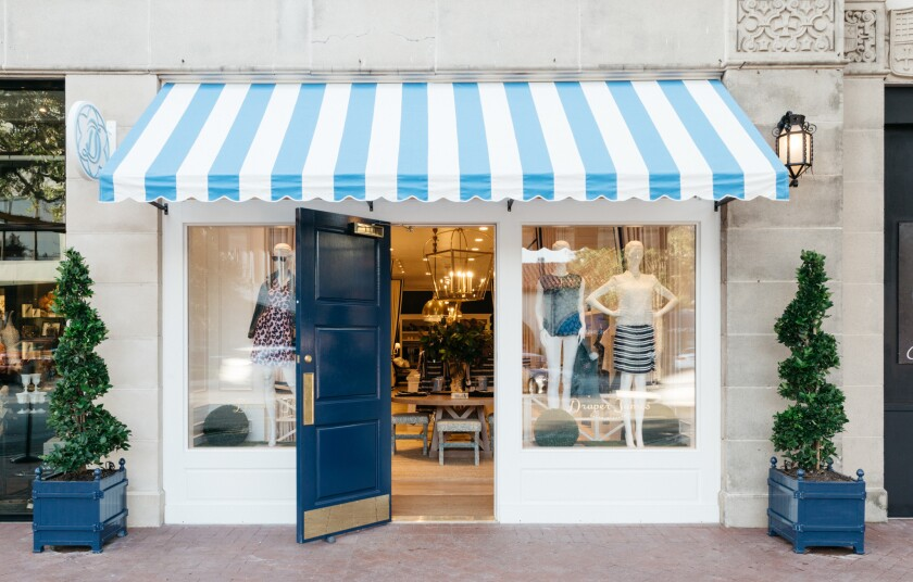 The exterior of Reese Witherspoon's Draper James store in Dallas.