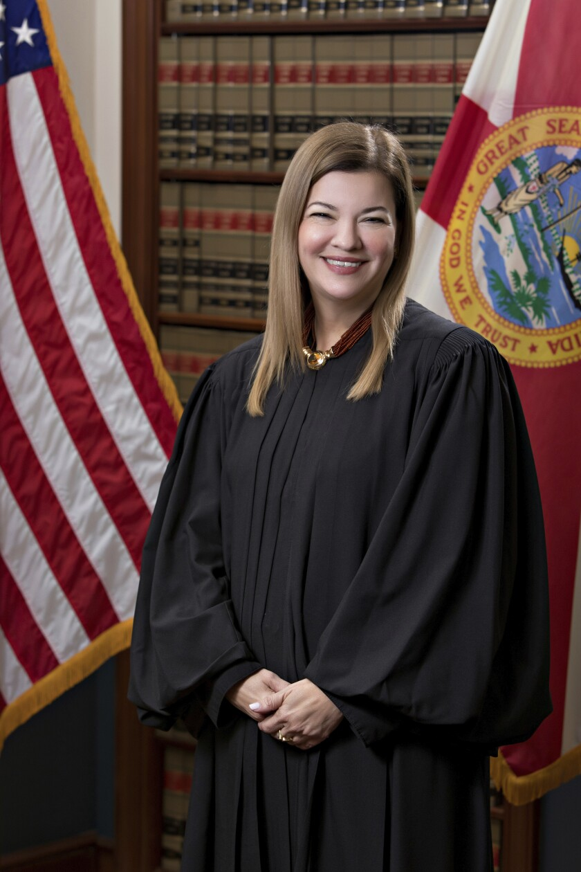 U.S. Circuit Judge Barbara Lagoa, of the United States Court of Appeals for the Eleventh Circuit, is shown in this official undated photo released by the Florida Supreme Court. (AP Photo/Florida Supreme Court)