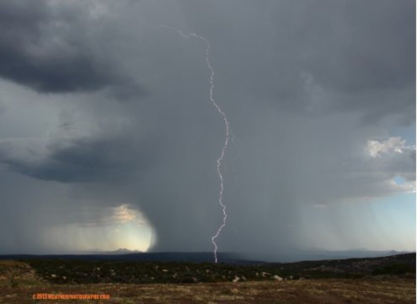Lewis Surrey took this image near Live Oak Springs near Boulevard and East County on Friday afternoon.