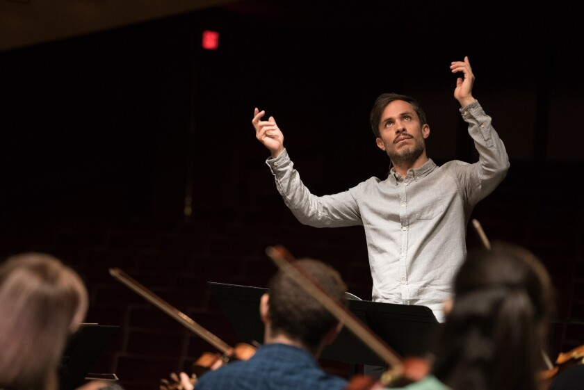 """Gael Garcia Bernal plays a gifted conductor in """"Mozart in the Jungle,"""" whose second season arrives Wednesday via Amazon Prime."""