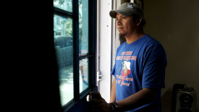 Diego Maria at the print shop he opened with other deportees in Mexico City. The group hopes to empl