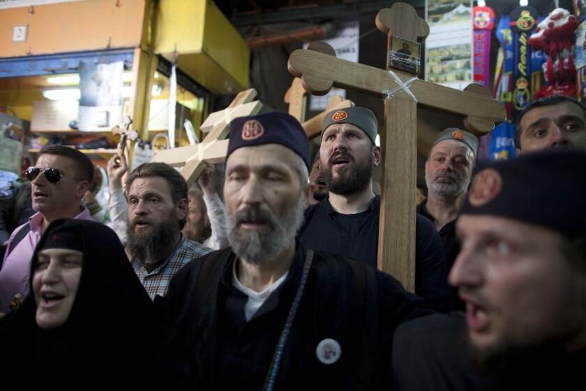 Orthodox Christians in Jerusalem celebrate Good Friday