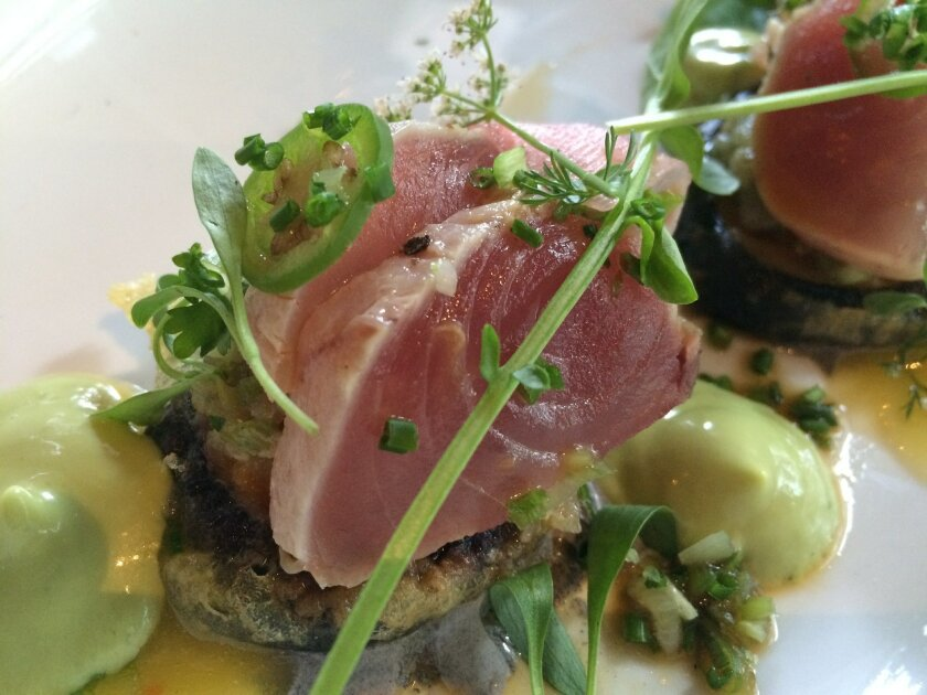 Bracero's albacore two ways is a stunning example of chef Javier Plascencia's ability to creatively elevate any combination of ingredients into a sophisticated dish.