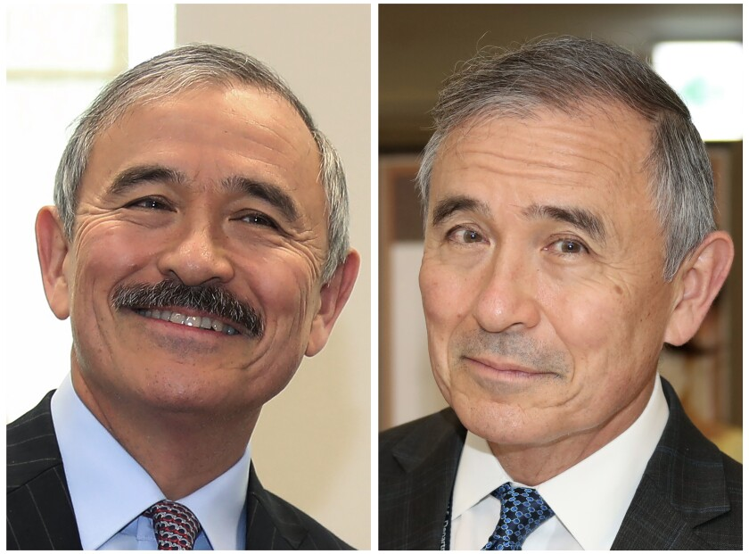 U.S. Ambassador to South Korea Harry Harris, with mustache and without
