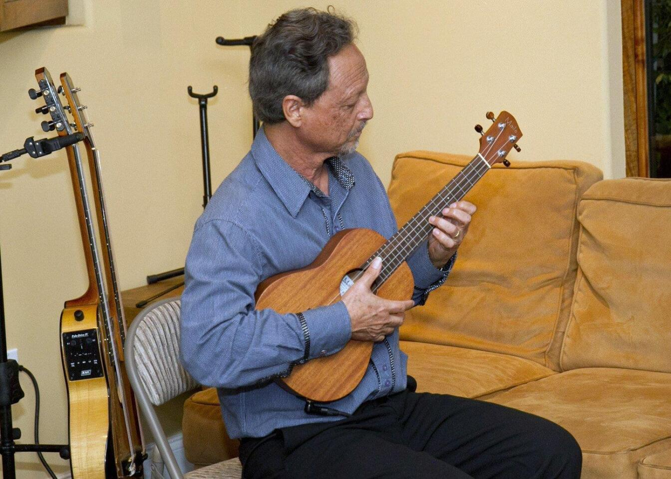 Fred Benedetti plays the ukelele