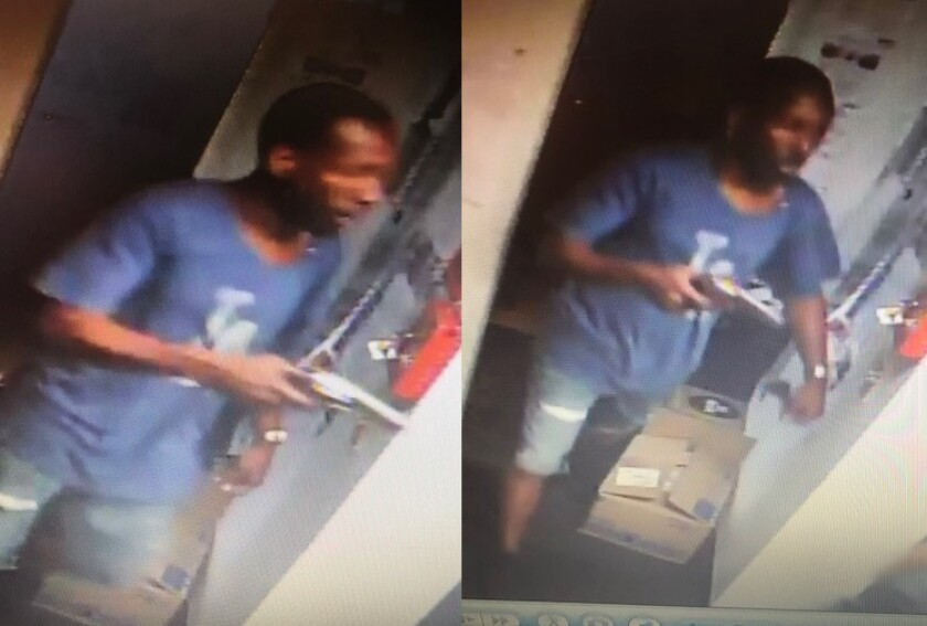 The gunman seen here in July 2018 surveillance footage from a Carlsbad Motel 6 was sentenced Monday to nearly 16 years in federal prison.