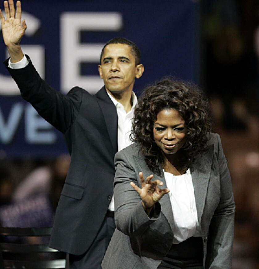 President Obama and Oprah Winfrey