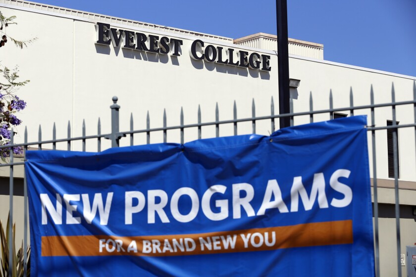 Everest College in Alhambra, one of the Corinthian Colleges, a Santa Ana company that was once one of the nation's largest for-profit college chains, announced in April that it was shutting down its remaining two dozen schools -- a move that left 16,000 students scrambling for alternatives.