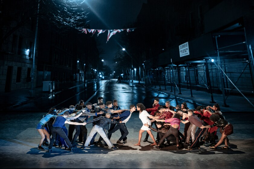 """West Side Story,"" with video design by Luke Halls."