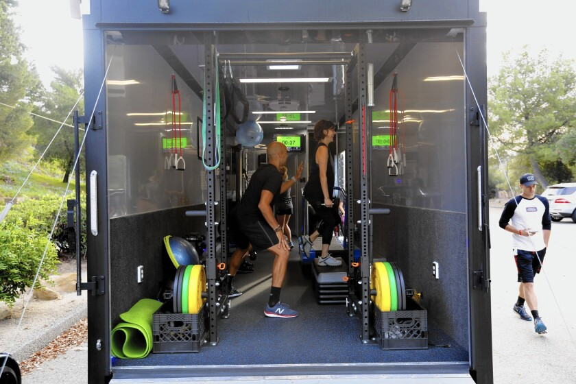Gym Rat: With the rolling workout studio Gitfit, the gym comes to you
