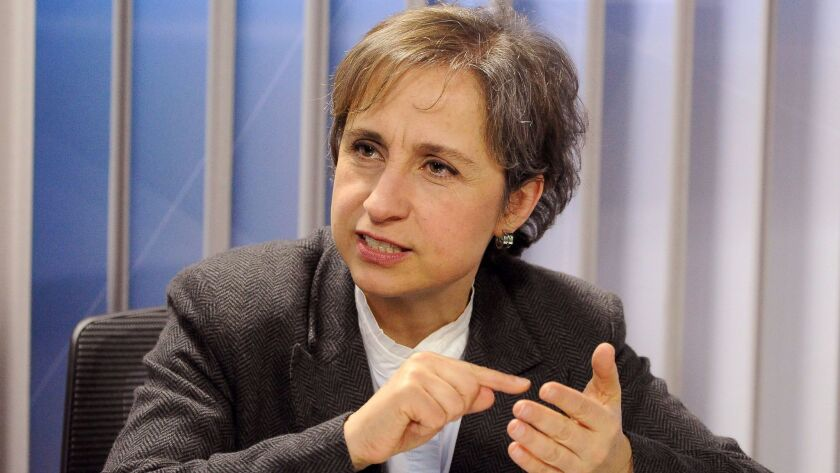 Mexican prosecutors are investigating allegations that spyware was used against human rights activists, government critics and reporters, including journalist Carmen Aristegui, above.