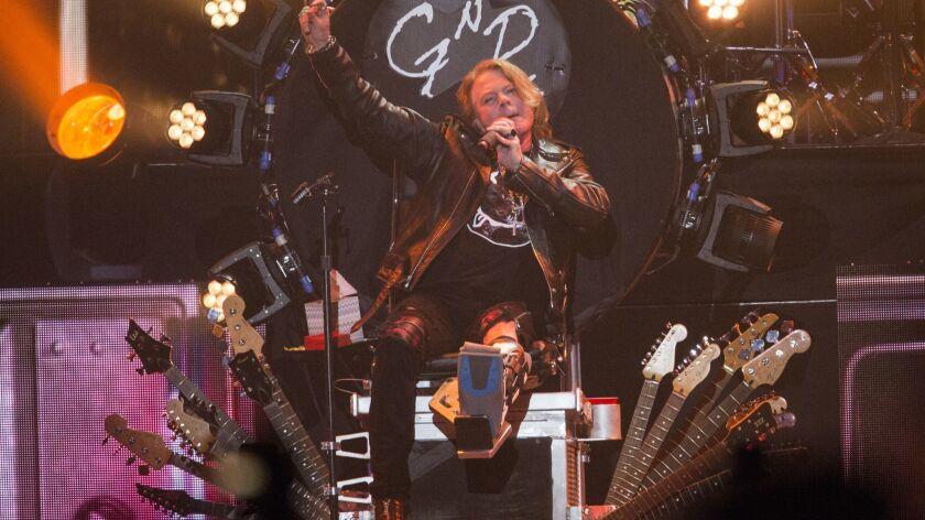 Axl Rose performs with Guns N' Roses at Coachella 2016