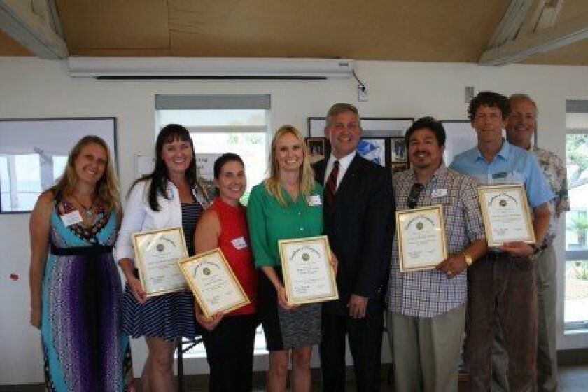 County Supervisor Dave Roberts recognizes each of the grant recipients with certificates. Photo by Kristina Houck