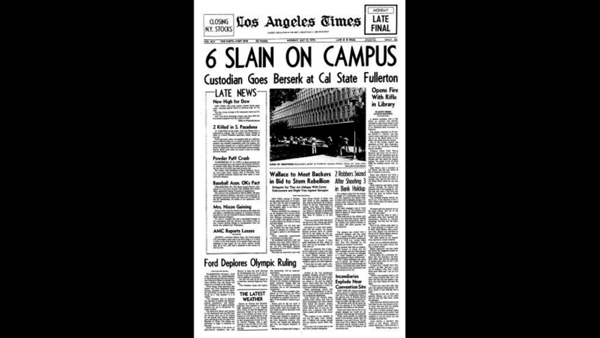 Cal State Fullerton shooting in the Los Angeles Times