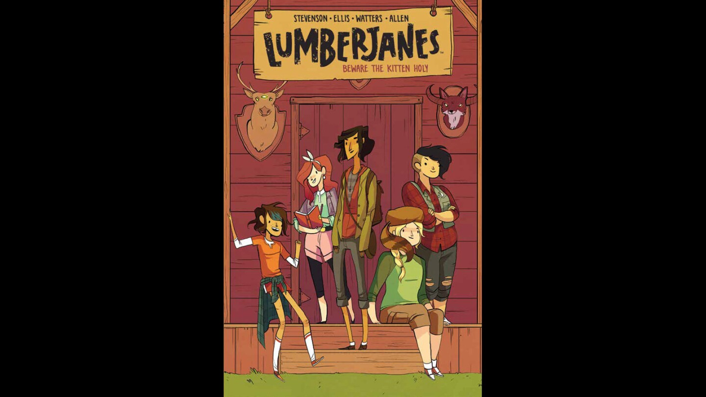 """The cover of the first volume of """"Lumberjanes."""""""