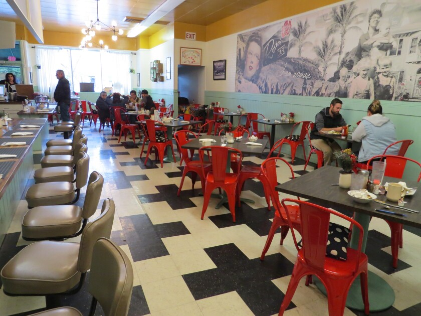 """The interior of Rosie's Cafe, which was renovated in January 2019 for an episode of the Food Network TV series """"Restaurant: Impossible."""""""
