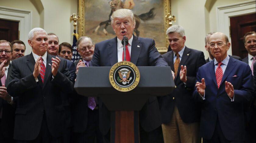 Donald Trump, Wilbur Ross, Mike Pence