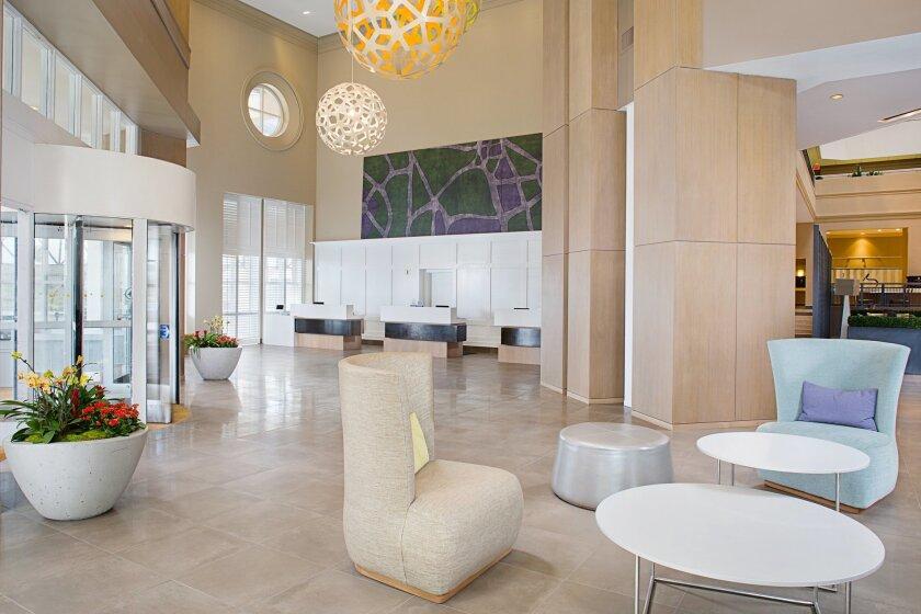 New Embassy Suites lobby