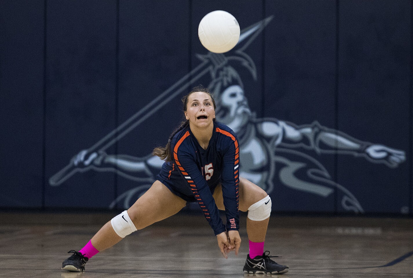 Photo Gallery: Pacifica Christian vs. Orangewood Academy in a girls' volleyball game