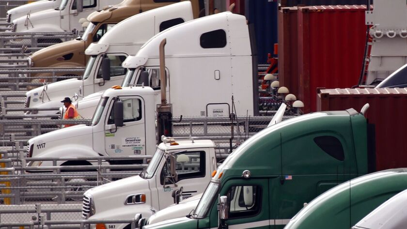 Truck drivers are among the workers getting raises as the labor market tightens.