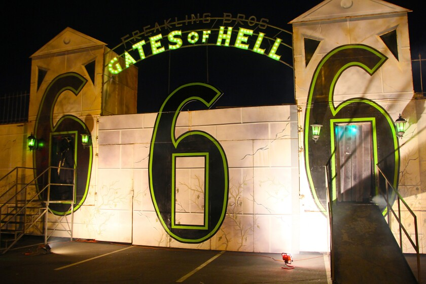 The Trilogy of Terror is a trio of haunted houses a short drive west of the Strip.