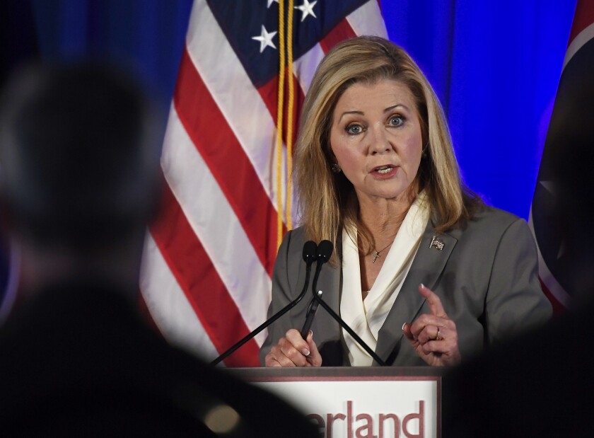 Marsha Blackburn responded to Taylor Swift in a new interview.