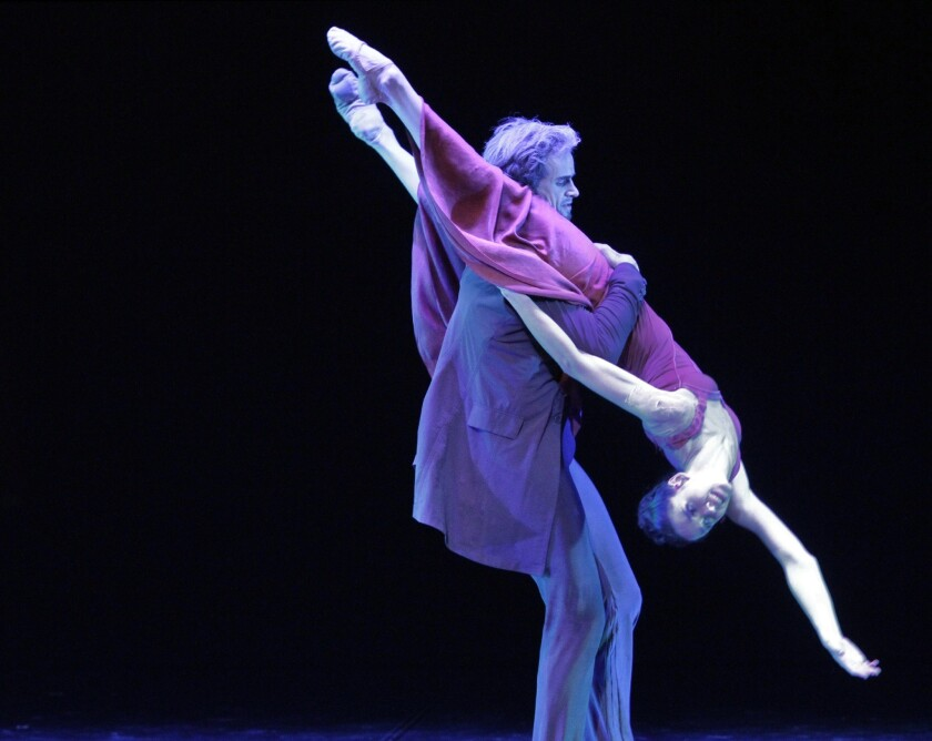 "Lyubov Andreyeva, right, as Camille and Oleg Gabyshev as Rodin in Eifman Ballet's performance of ""Rodin."""