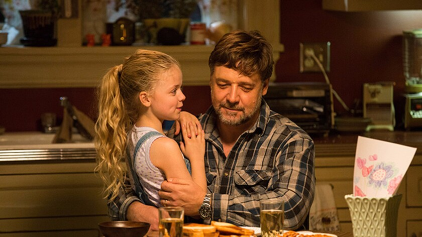 """Kylie Rogers and Russell Crowe in the movie """"Fathers and Daughters."""""""