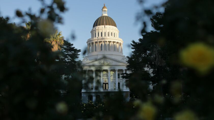 The capitol building in Sacramento on Oct. 26, 2017.