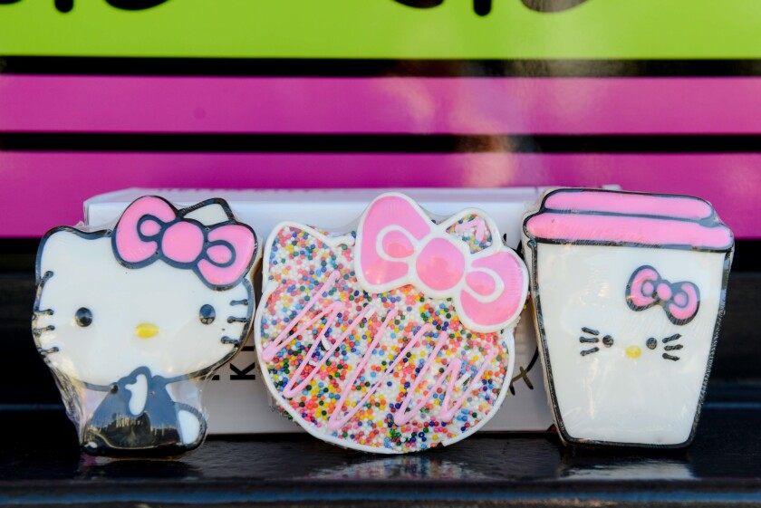 Limited-edition Hello Kitty cookie box set.