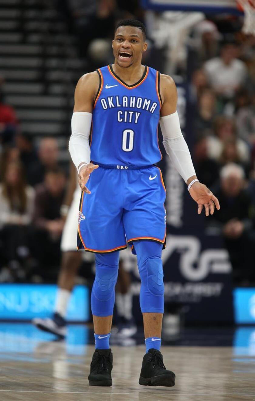 El jugador Russell Westbrook de Oklahoma City Thunder. EFE/Archivo