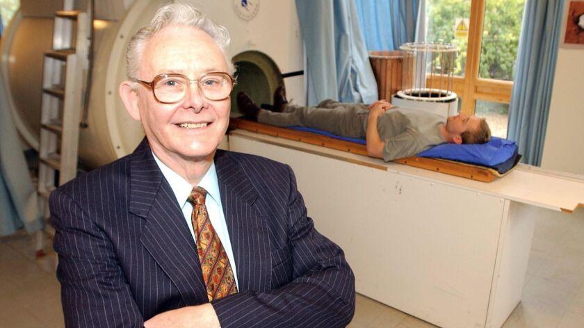 British Nobel Prize winner Peter Mansfield in Nottingham, England in 2003.