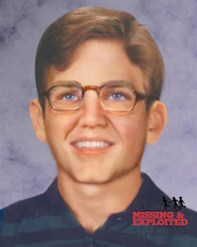This age progression image provided by National Center for Missing & Exploited Children shows a simulation of what Adam Herrman might look like at the age of 21. No one claims to know what happened that summer in 1999 when 11-year-old Adam disappeared from the Towanda mobile home park where he live