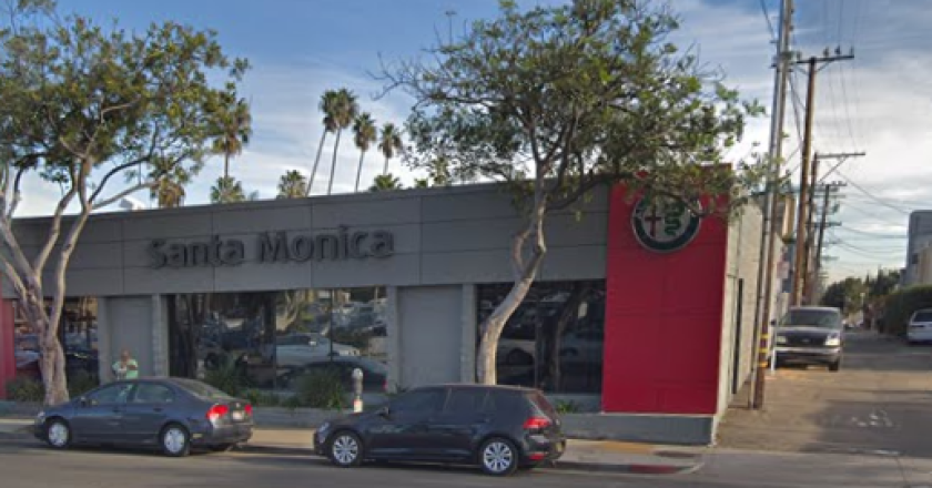 Santa Monica police are responding to a barricade situation near a luxury car dealership on Santa Monica Boulevard.