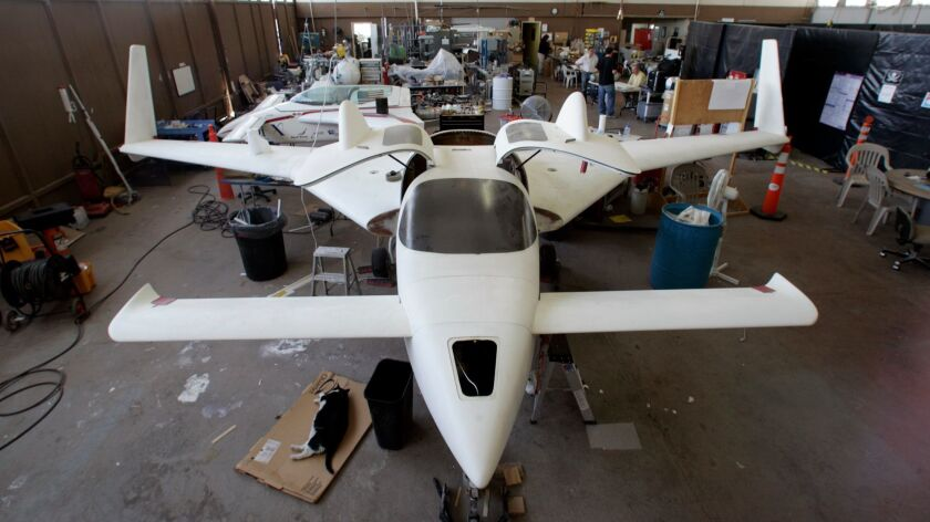 A prototype of Xcor's X-Racer at Mojave Air and Space Port in 2007. The financially strapped firm ha