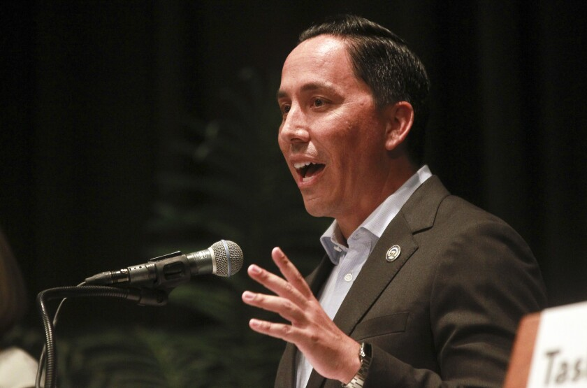 San Diego Mayor Todd Gloria says San Diego expects $300 million in federal COVID-19 aid.
