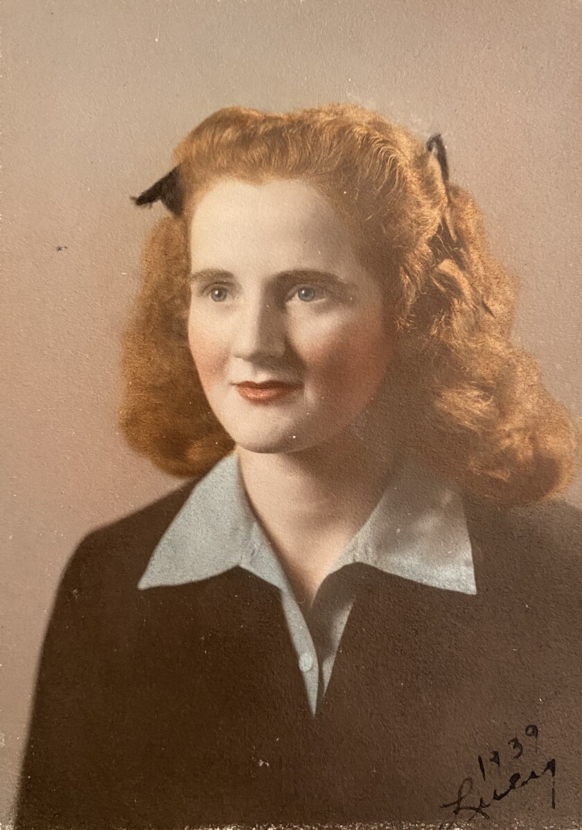 The redhead at University of Toledo, 1939