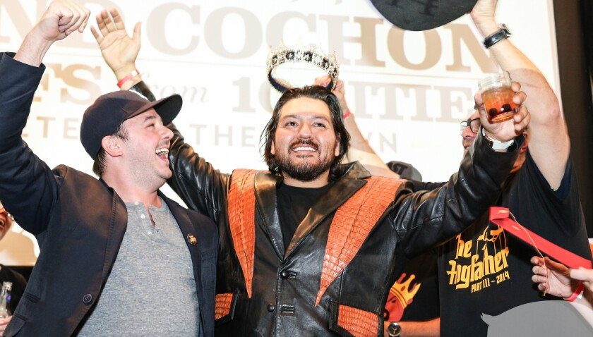"""Chef Ray Garcia of FIG is crowned """"King of Porc"""""""