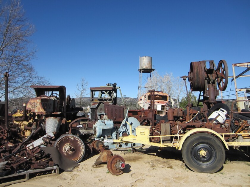 Photographers and stargazers are invited to the Motor Transport Museum in rural East County for nighttime photography of the stars, moon, planets, trucks and the rustic setting of the museum grounds on an old Feldspar mill in Campo.