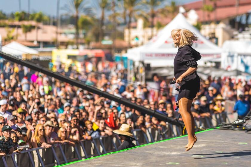 Bebe Rexha performs at KAABOO Del Mar on Saturday, Sept. 15, 2018.