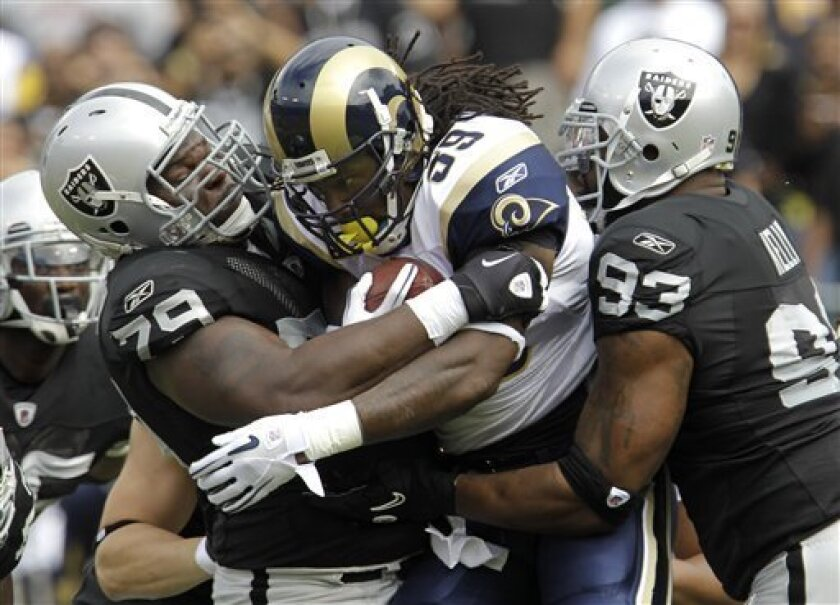 The St. Louis Rams and Oakland Raiders are potential competition for the Chargers in the Los Angeles market. (AP Photo/Paul Sakuma)