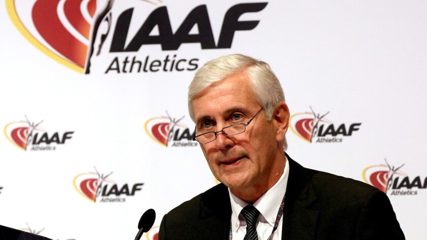 Rune Andersen announces the IAAF's decision to uphold the ban on Russia's track team from participating in the Rio Olympics.