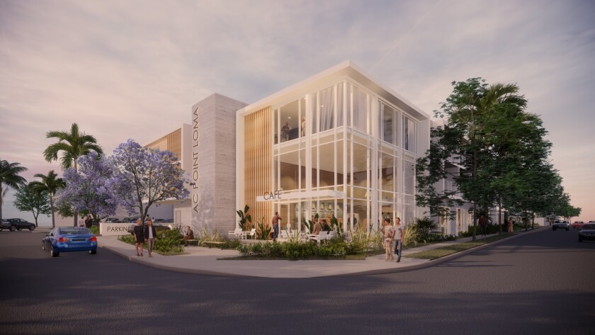 A cafe/bar, open to the public, will anchor the new 91-room AC Point Loma Hotel, on Scott and Emerson streets.