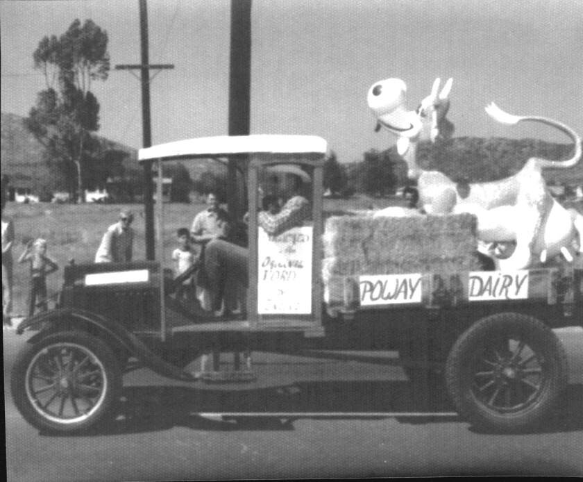 The dairy's cow was a fixture at parades and other community events.